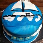 Zeilboot design taart